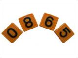 Номерной блок для ремней (от 0 до 9 желтый) крс